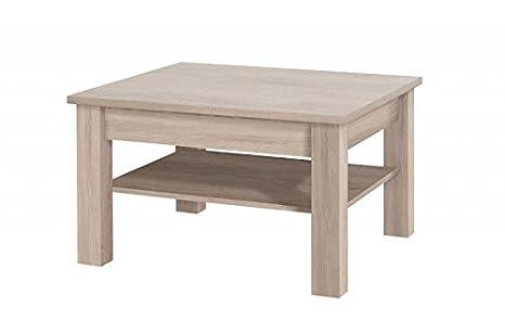 Elegantes muebles de salón ELISA (Color Roble, Mesa de centro CEZAR 18)