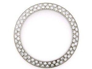 Ladies 1.20ct Double Row Diamond Bezel 18kw for Rolex