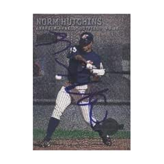 Norm Hutchins Anaheim Angels 2002 Fleer Metal Prospects Foil Autographed Hand Signed...