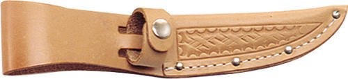 "Sheath SH207 Knife Sheath 4 Fits Up To 4"" Blade Basketweave Leather Natural Colo"
