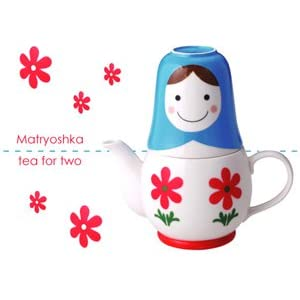 "Matryoshka ""Tea for Two"" 3pc Tea Set"