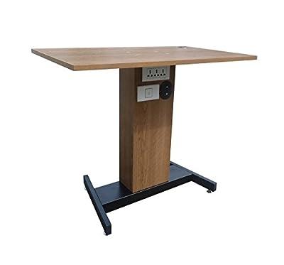 Fixture Displays Adjustable Height Sit Stand Table Desk Workstation Computer Stand Ergonomic Cherry 1227