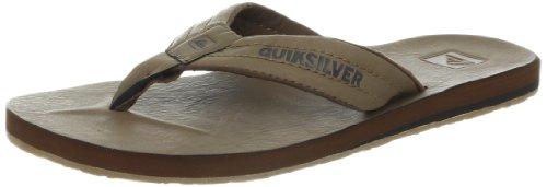 Quiksilver Men'S Carver Nubuck Thong Sandal,Tan/Gum,11 M Us front-432312