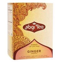 Yogi Ginger, Herbal Tea Supplement, 16-Count Tea Bags (Pack of 6) ( Value Bulk Multi-pack) from Yogi