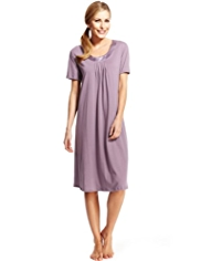 Per Una Satin Neckline Swing Nightdress