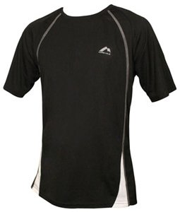 Mens More Mile Black PALERMO short Sleeve running top