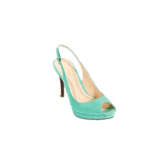 Cole Haan Womens Chelsea Open Toe Sling Green Thumb Suede Shoes   D39664