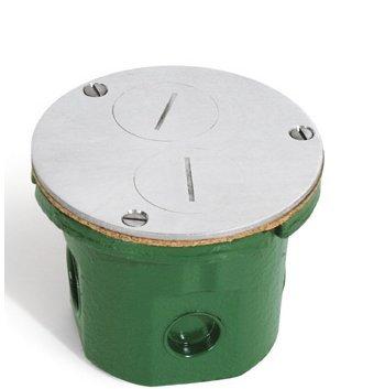Lew Electric 812-Dfb-A Floor Box, W/Cover & 15A (Tr) Receptacle - Aluminum