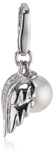 Giorgio Martello Charm Silver 842-811669 Lucky Angel Wings With Pearl