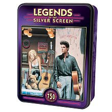 "Jigsaw Puzzle Collectible Tin 750 Pieces 18""X24""-Legends of the Silver Screen-Highway 51"