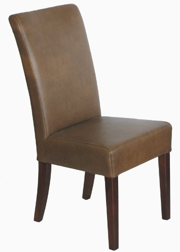 Dining room chairs 6 sand tatiana leather parsons dining room chairs set - Leather parsons dining room chairs ...