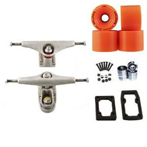 "Longboard Carver C7/C2 6.5"" Hanger 9"" Axle Trucks Skateboard Deck Package Orangatang In Heat 75mm Slide Wheels, Abec 7 Bearings, Hardware & Risers"