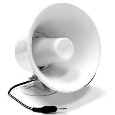 Pa Horn Speaker W/ Plug & Wire 5 In 12W Cb / Ham Radio