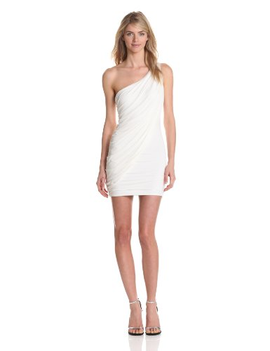 BCBGMAXAZRIA Womens Sima Shoulder Gown