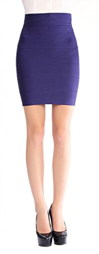 Lonelygirl Women'S Stripe Solid Color Mini Skirt Q001-5M