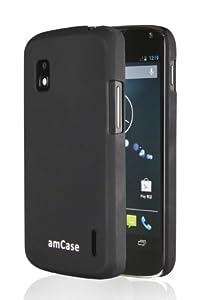 amCase(TM) Slim fit case for Google Nexus 4 -Matte Black
