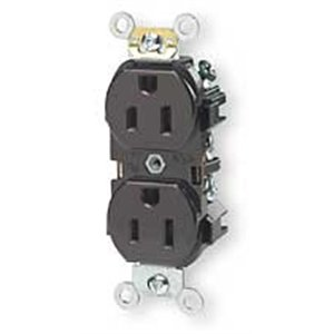 5-15r Levspec Duplex Receptacle Industrial - Brown