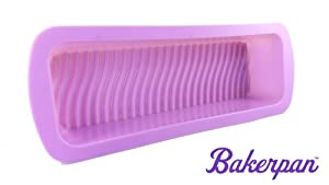 Bakerpan Silicone Loaf Pan, Loaf Mold, Bread Pan, Cake Baking Mold 13 Inch Long, Lavender... by Bakerpan