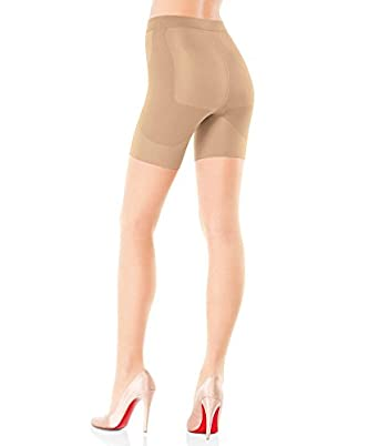 SPANX Bootyfull Firm Control Butt-Boosting Pantyhose, A, Black