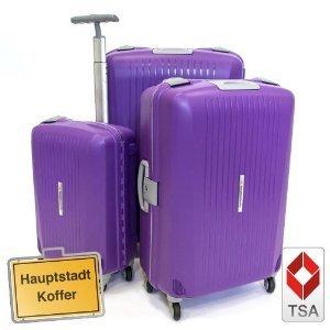 3er Kofferset Hartschale Trolley violett lila-matt