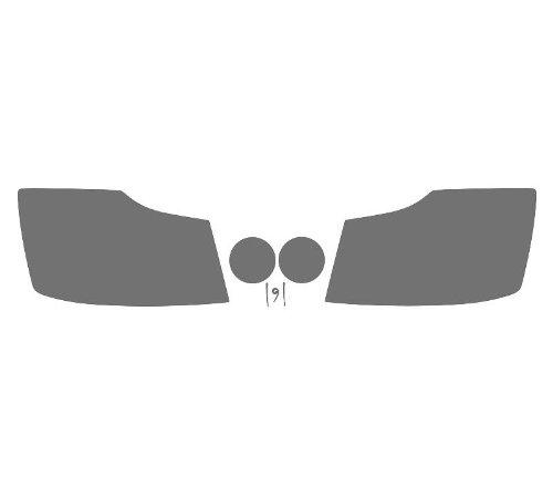 Subject 9 - Nissan Titan Pre-cut vinyl overlay headlight PLUS tint kit (2004 2005 2006 2007 2008 2009 2010 2011 2012 2013 2014 2015) LIGHT (Nissan Titan Headlight Tint compare prices)