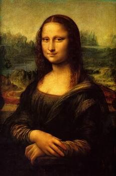 12X16 inch Leonardo Da Vinci Code Canvas Art Repro Mona Lisa