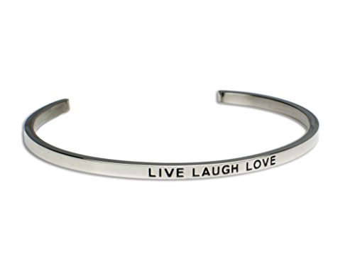 LIVE LAUGH LOVE:Gift for Her,Mantra Bracelet, Inspirational gift,100% Guaranteed,Perfect Gift.