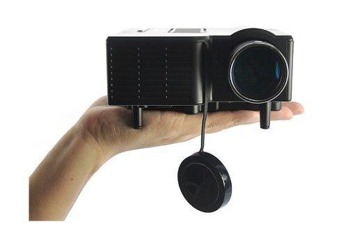 "Aometech Mini Multimedia Lcd Image System Home Led Digital Projector 60"" Cinema Theater, Pc Laptop Vga Input Usb Uc28(Sd / Usb / Av / Vga /Hdmi Port) (Black)"