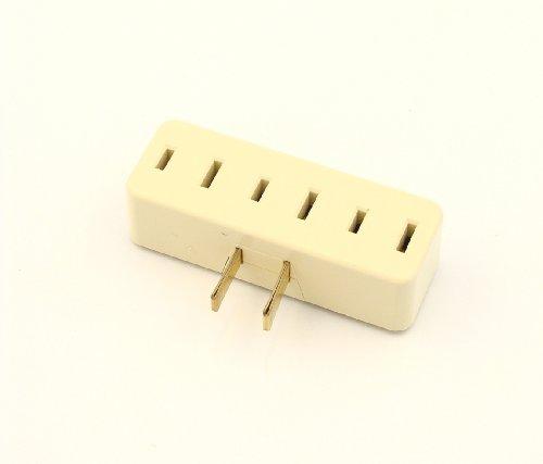 Leviton 65-I 15 Amp, 125 Volt, Triple Outlet Trimfit Adapter, Ivory