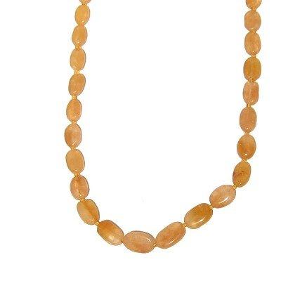 Calcite Necklace 09 Beaded Orange Oval Crystal Healing Stone Gem 23