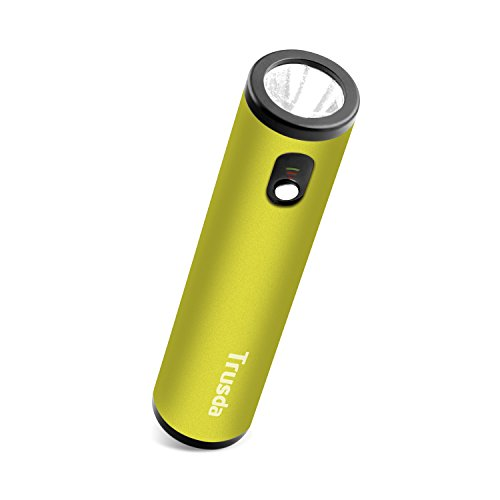 Portable CREE Bright Flashlight with Power Bank, Trusda Handheld Torch USB Charger for iPhone Samsung Smartphones-Metal Green (Jump Starter Mobile Power 2001 compare prices)
