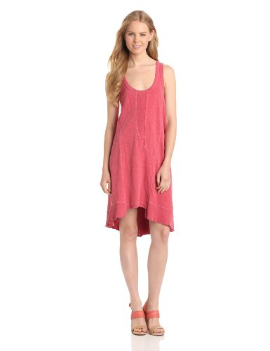 Wilt Women's Mixed Panel Tank Dress, Vintage Cherry, Small