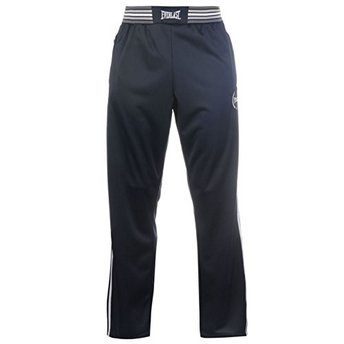 Everlast-Track Pantaloni Vita Elasticizzata Pantaloni Sportivi Allenamento Navy M