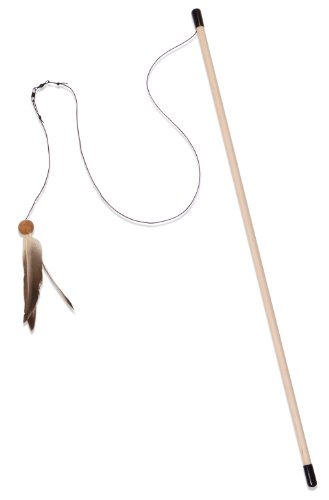 Good From The Field FFT114 Freddy's Feather Wand Interactive Cat Toy