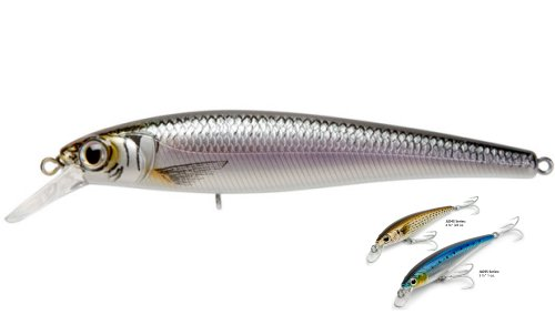 "Today Sale Jerk Bait Saltwater Lures Suspending Baker Lures (Black Silver, 5.5""  1oz.)"