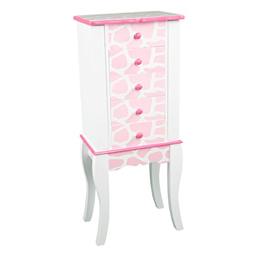 [Teamson Kids Dollhouse Furniture Fashion Prints Jewelry Chest Armoire - Giraffe (Baby Pink / White)] (Snow White Princess Costume Ebay)