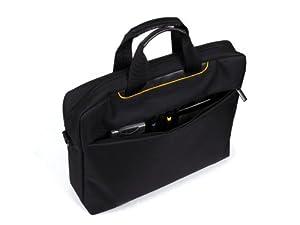 Slim & Smart Laptop Messenger Bag 15.6  Black Shoulder messenger laptop case for men women boys and Girls  Fabric shoulder laptop bags cases  Size 15.6 inches