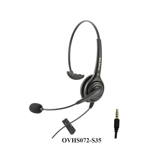 Call Center Headset With 4 Conductors 3.5Mm Quick Disconnect Cord For Samsung Galaxy