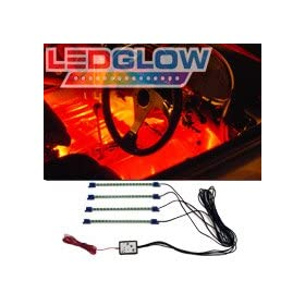 4pc. Red LED Interior Underdash Lighting Kit