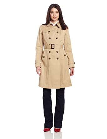 London Fog Women's Heritage Trench, Camel, Large
