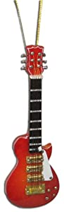 Miniature Red Sunburst Les Paul Electric Guitar Christmas Ornament 4""