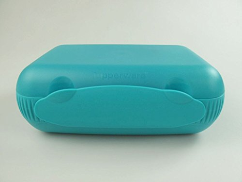 tupperware-lunch-box-mit-trennung-brotdose-lunchbox-brotbox-turkis
