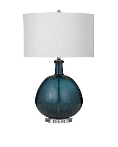 Bassett Mirror Co. Kennon 1-Light Table Lamp, Blue
