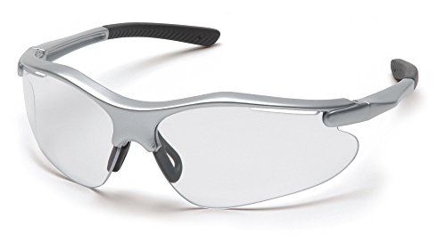 Pyramex Fortress Safety Eyewear - Superior Comfort and Fit - 99% Protection Against UV-A, B and C Rays - Glare and Scratch Resistant - Rubber Temple Tips - Adjustable Rubber Nose Pad - Rims Come in 1 of 3 Colors Including Silver, Black or Gray - Lenses Come in 1 of 8 Tints Including Clear, Amber, Anti-Fog, Coffee, Gray, Indoor/Outdoor Mirror, Infinity Blue, Silver Mirror, and Mango (Mango 99 compare prices)