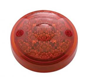 """(2) Red 3"""" Round 15 LED Surface Mount Brake Stop Turn Tail Lights / Red Lens"""