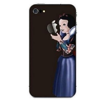 Mobifan 遂に登場!! 【iPhone 5 対応 iPhoneステッカー 白雪姫(Snow White) Black タトゥー】