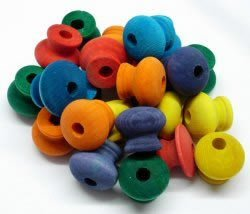 Zoo Max DUS092 Colored Wood Parts 24 piece Bird Toy
