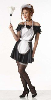 Parlor French Maid Adult Halloween Costume Size 8-10 Medium