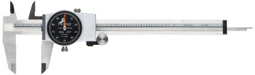 Brown & Sharpe 75.116550 Dial Caliper, Stainless Steel, Black Face, 0-6