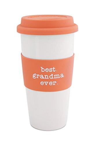 Pavilion Gift Company 14123 Best Grandma Ceramic Travel Mug, 15-Ounce, Mom Love